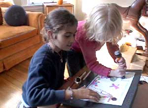 Jabberstamp - girls drawing+recording